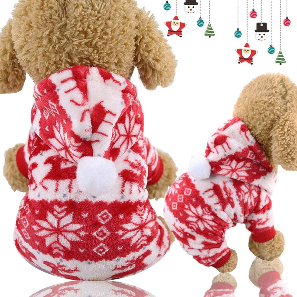 Navy,S Hapae Soft Warm Small Dog Pajama Coats for Puppies,Cute Chihuahua Clothes Christmas Outfits Costumes for Cats Pug Yorkie French Bulldog