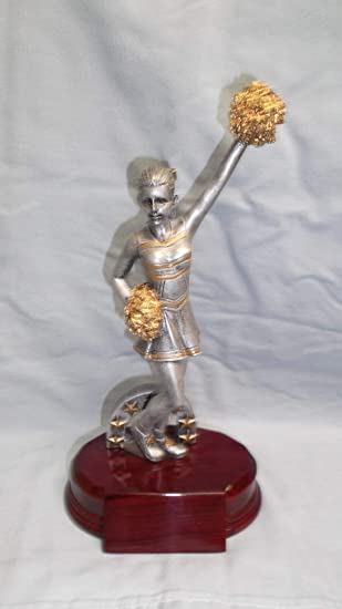 CHEERLEADER statue trophy  resin award RFC726 pon pon