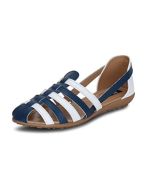 Buy Kielz White Open Toe Flats TPR