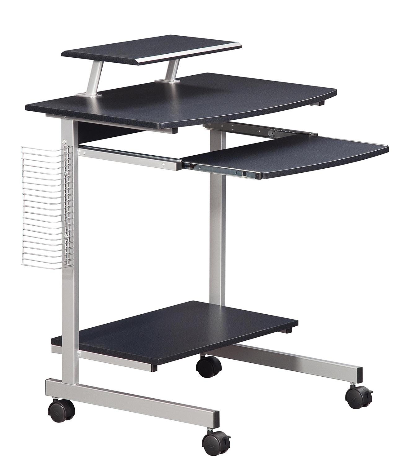 Mobile & Compact Complete Computer Workstation Desk. Color: Graphite by Techni Mobili