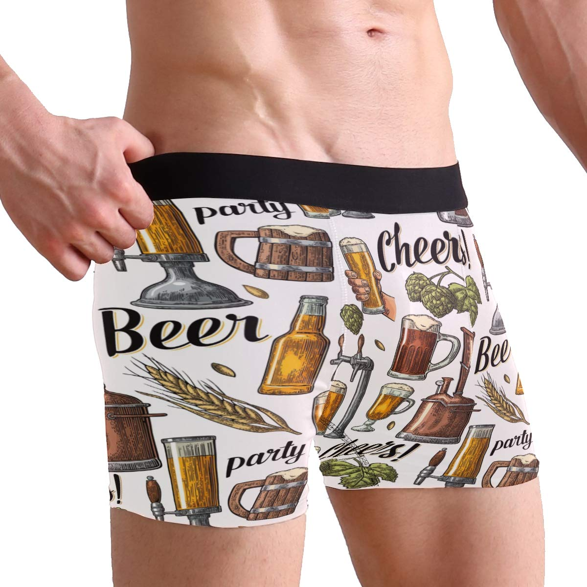 Wamika Beer Tap Men/'s Boxer Briefs Underwear Stretchable S-XL