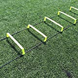 Fitness Health FH Elevated Speed Ladder Agility Training | Football Performance Training | 6 Inch Hurdles | Flat Training Ladder | Non Tangle | Easy Layout