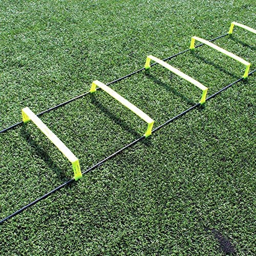 Fitness Health FH Elevated Speed Ladder Agility Training | Football Performance Training | 6 Inch Hurdles | Flat Training Ladder | Non Tangle | Easy Layout by fitnesshealth
