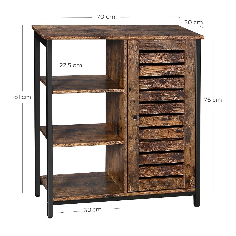 Vasagle Storage Cabinet Industrial Floor Standing Cabinet