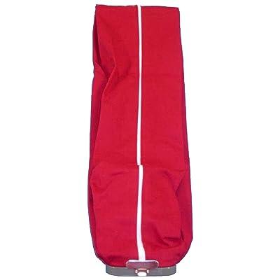 sanitaire Aspirateur vertical Chiffon Sac extérieur avec fermeture Éclair sur toute la longueur, couleur rouge, elle sera Coupe Eureka Modèle 1400Série, Utilise Style F & G Sacs en papier