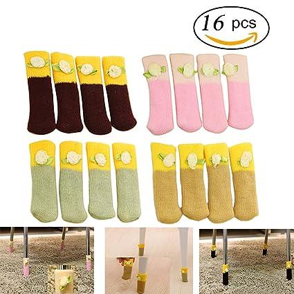 Silla calcetines, Llop 16 pcs muebles de lana para tejer calcetines/pata de la