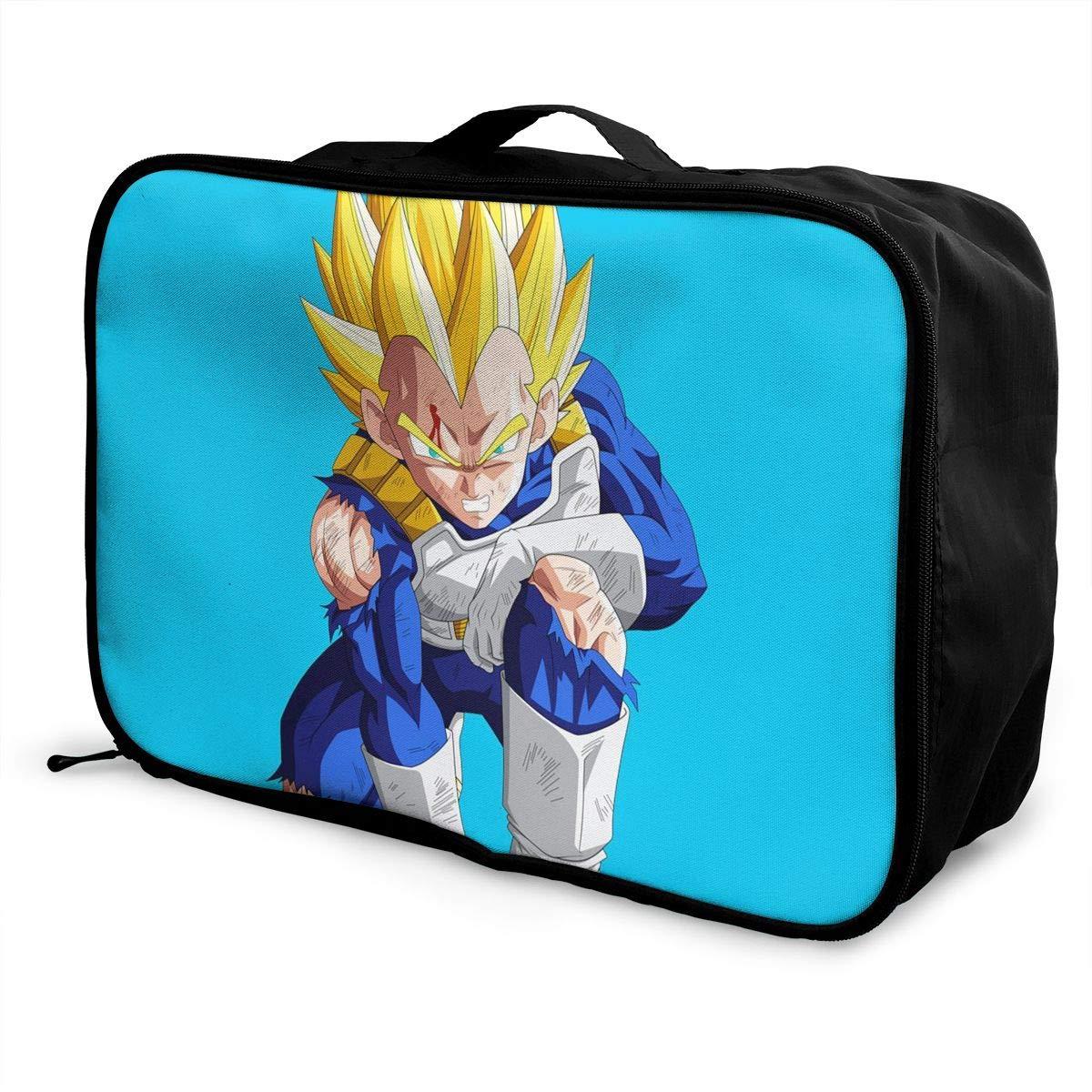 8b36f3652fec Amazon.com: Meirdre Travel Duffel Bag Dragon Ball Vegeta Lightweight ...