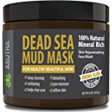 """(Value Size 16oz) Premium Dead Sea Mud Mask, """"ORIGINAL BLEND"""" + FREE Applicator Brush, Combat Acne, Oily Skin & Blackheads, Minimize Pores, For Smooth, Beautiful & Healthy Looking Skin"""