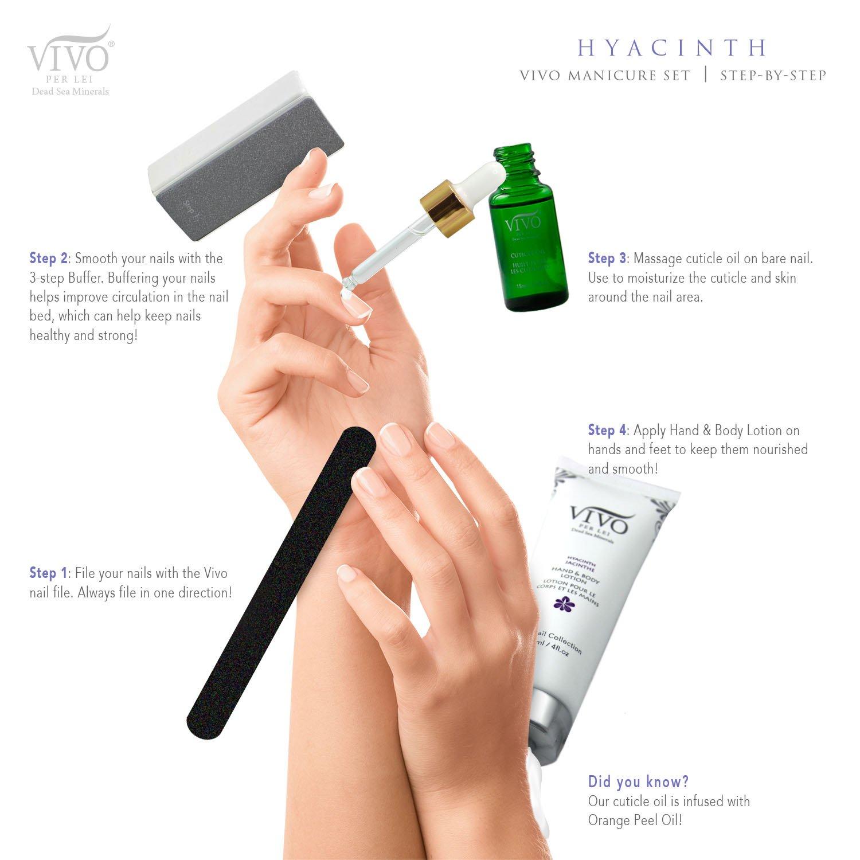 Amazon.com : Vivo Per Lei Manicure-Set (Hyacinth), 4-Count ...
