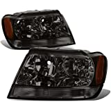 Jeep Grand Cherokee Headlight Lamps With Amber Reflector Kit (Smoke Lens) - WJ