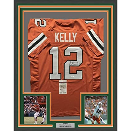 best sneakers 4b5b6 7ac86 Framed Autographed/Signed Jim Kelly 33x42 Miami Hurricanes ...
