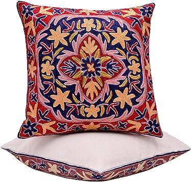 Silk Blend Pillow Case Sofa Throw Cushion Cover Pillowcase Home De LC/_ EG/_ HK