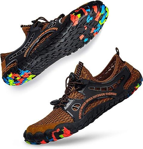 JIASUQI Chaussures aquatiques /à s/échage rapide pour enfants