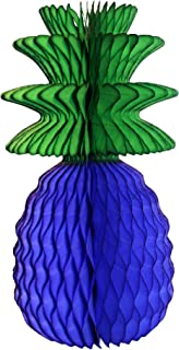 product image for 3-Pack 13 Inch Honeycomb Pineapple Party Decoration with Green Leaves (Dark Blue)