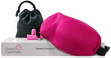 297eb31ea26 Image Unavailable. Image not available for. Color  Dream Essentials Sweet  Dreams Contoured Sleep Mask with Carry Pouch and Hearos Earplugs ...