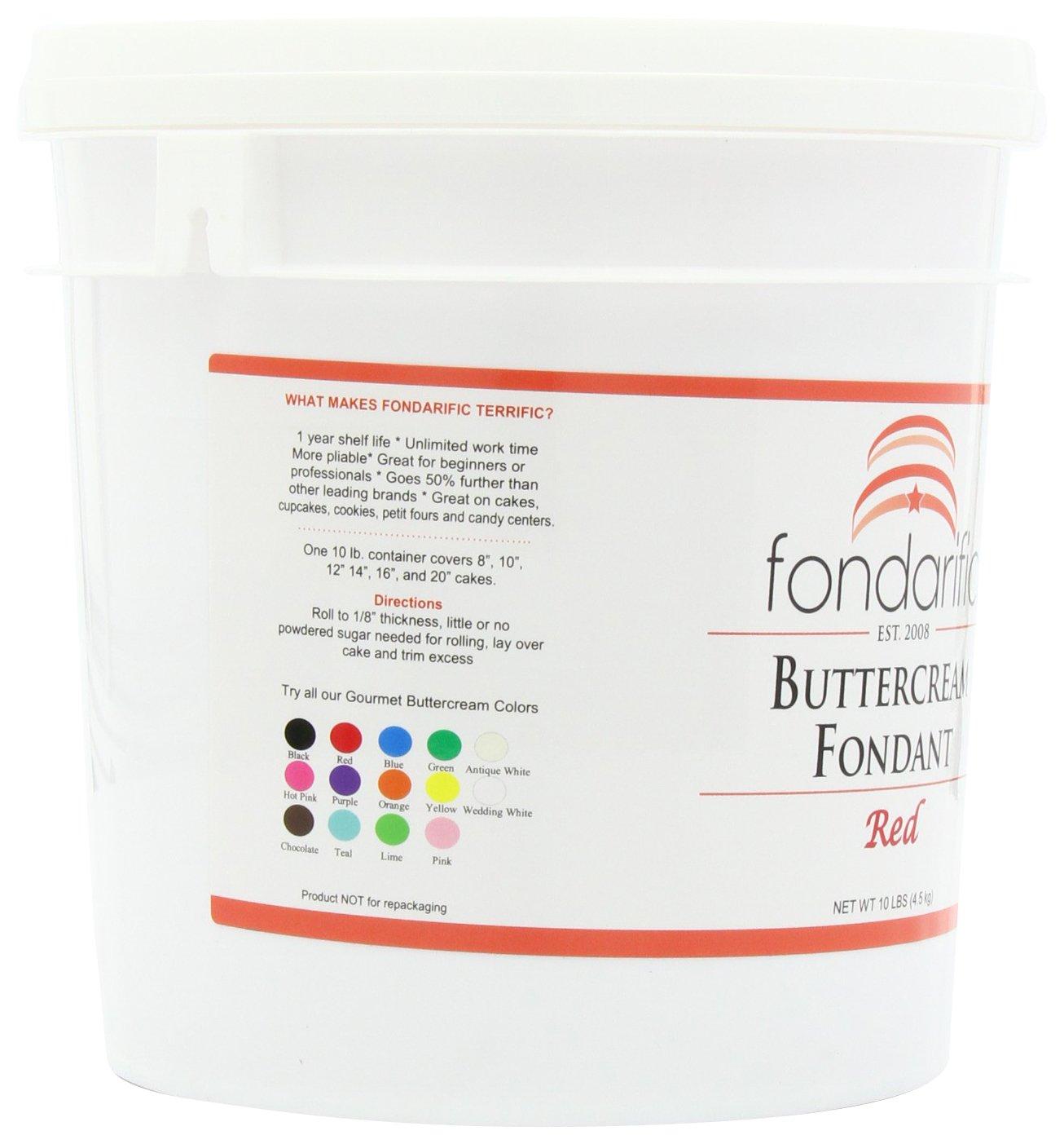Fondarific Buttercream Red Fondant, 10-Pound Bucket by Fondarific (Image #7)