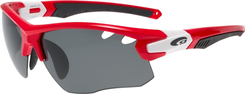 GOGGLE polarisierende Radbrille mit gelben Wechselscheiben