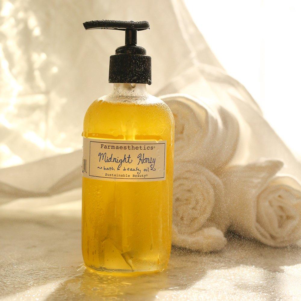 Farmaesthetics Midnight Honey Bath and Beauty Oil Body, Face and Massage 7 oz