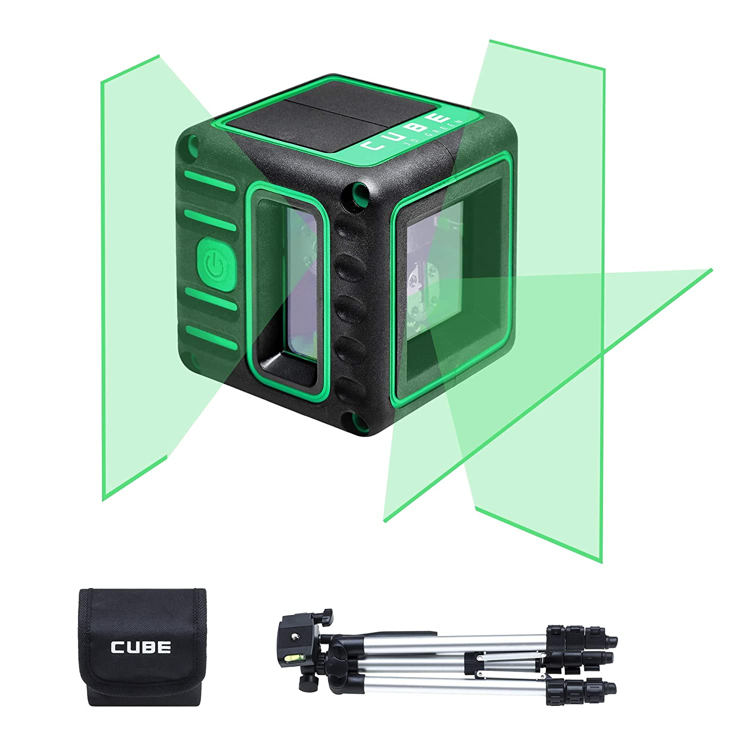 230 ft w//Laser Receiver 65 ft Range 2 Vertical and 1 Horizontal Lines Cross Self-Leveling Laser Level ADA Cube 3D Basic Edition