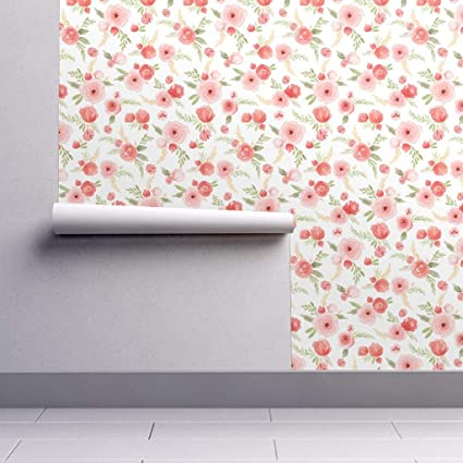 Watercolor Floral Wallpaper Roll