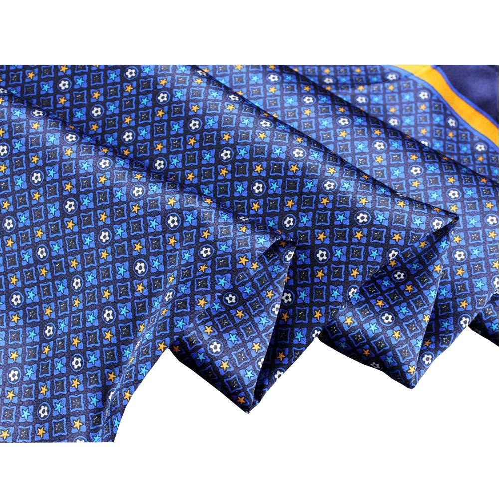 LD Foulard Uomo Seta Elegante Alta Qualit/à Raso Sciarpa Business Satin Neckerchief Naturale Ipoallergenico Scarf Invernale Collo Caldo Regalo 160 x 30cm