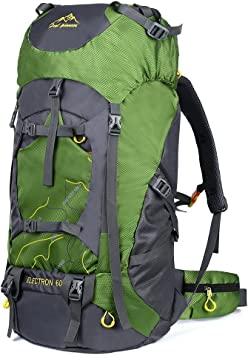Vbiger Mochilas de 80L Impermeable con Cubierta de lluvia para Viajes Senderismo de Alpinismo