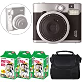 Fujifilm INSTAX Mini 90 Neo Classic Instant Camera (Black) + Fujifilm Instax Mini Instant Film (60 Exposures) + Camera…