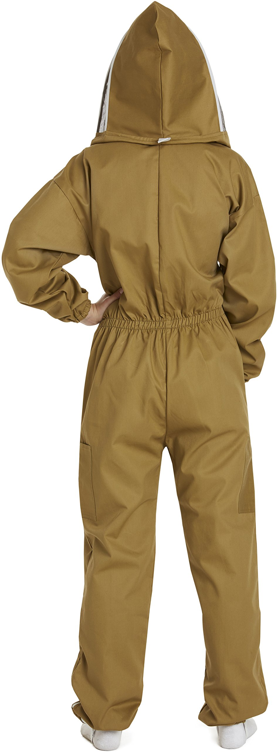 NATURAL APIARY - Apiarist Beekeeping Suit - Khaki - (All-in-One) - Fencing Veil - Total Protection for Professional & Beginner Beekeepers - X Large by Natural Apiary (Image #3)