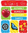 My First 4-in-1 Alphabet Numbers Colours Shapes: Padded Board Books