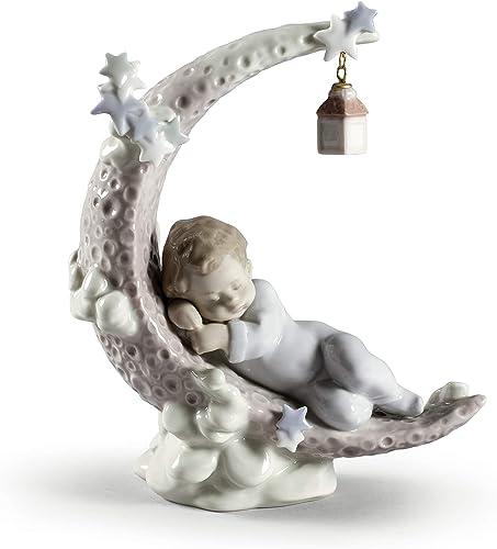 LLADR Heavenly Slumber Boy Figurine. Porcelain Baby Figure.