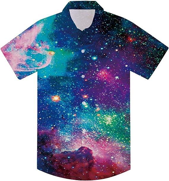 Newistar - Camisa hawaiana para niños y adolescentes con estampado 3D de manga corta y botones: Amazon.es: Ropa y accesorios