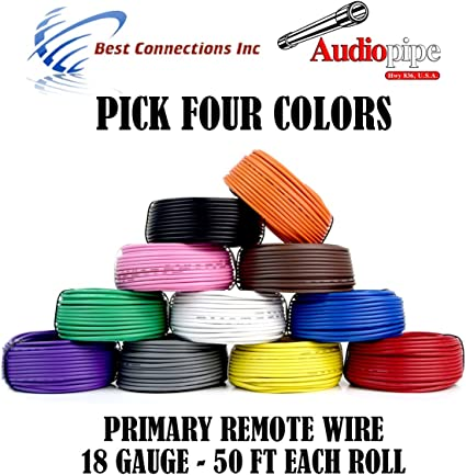 100 Ft 18 Gauge Remote Wire Primary Lead Hook Up Cable Blue 18 AWG 100 FEET