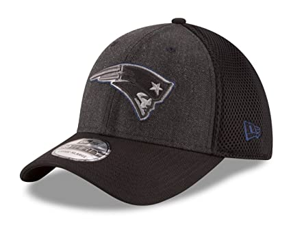 ad03ed19f0e Image Unavailable. Image not available for. Color  New Era New England  Patriots NFL 39THIRTY Heathered Black Neo Flex Fit Hat