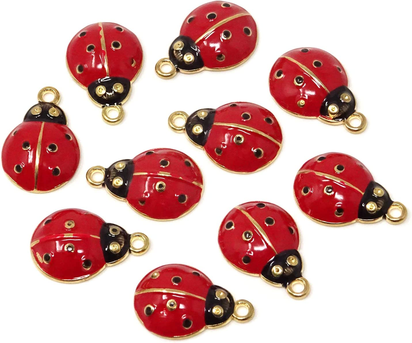 10Pcs//Set Enamel Alloy Cat Charms Pendant Jewelry Finding DIY Craft Making YJUS