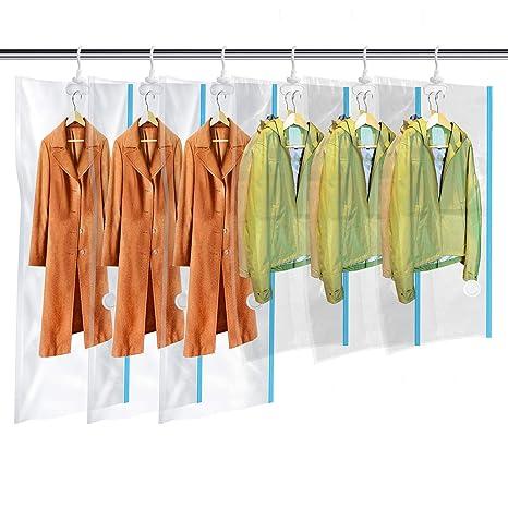 d0bc9ff188fe Sacchetti Sottovuoto Vestiti da Appendere con Gancio Esterno   Interno per  Gruccia - 3 Extra