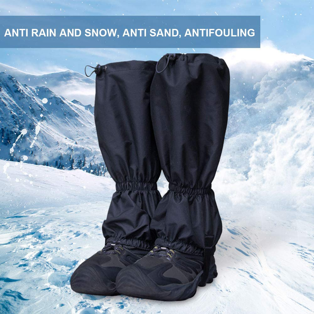 Men and Women Walking Hunting Mountaineering PiscatorZone Leg Gaiters Snow Boot Gaiters Outdoor Waterproof Windproof Breathable Leggings Cover for Hiking Climbing