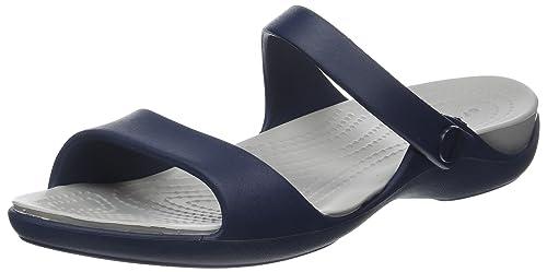 aa607010b197 Crocs Women s Cleo V Flat Sandal  Crocs  Amazon.ca  Shoes   Handbags