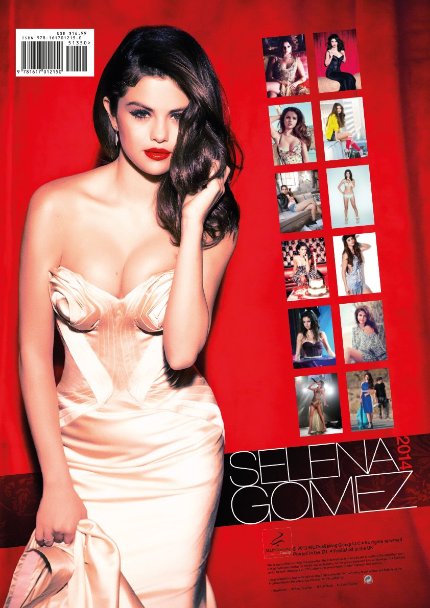 2019 year look- Gomez Selena calendar pictures