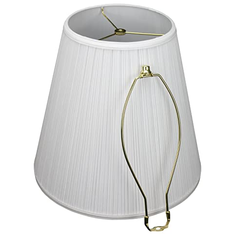 FenchelShades.com Lamp Shade 9x16x14.25 Brass Washer (Spider) Attachment  With 13u0026quot