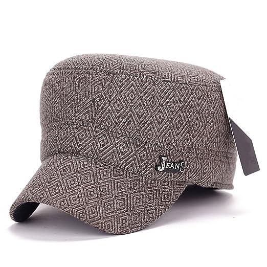 bf5621ffc3d King Star Men Plaid Flexfit Wool Adjustable Winter Cadet Club Army Baseball Cap  Brown