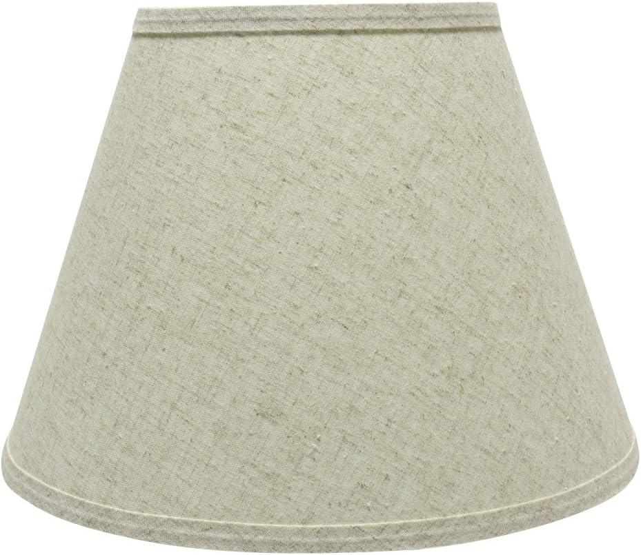 Aspen Creative 32683 13 Wide 7 x 13 x 9 1 2 Transitional Hardback Empire Shaped Spider Construction Lamp Shade, Beige