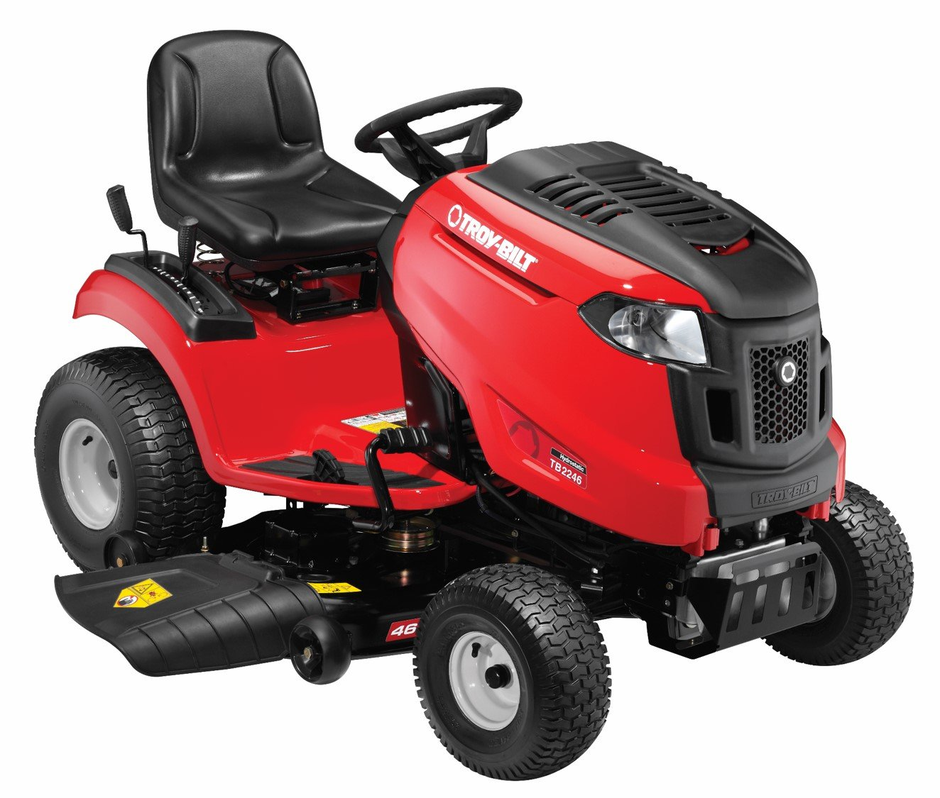 Amazon.com : Troy-Bilt TB2246 22HP/656cc Twin Cylinder Foot Hydro  Transmission 46-inch Riding Lawn Tractor : Garden & Outdoor