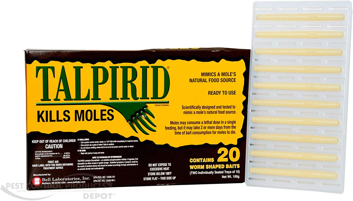 Amazon Com Talprid Moles Bait 1 2 Box 10 Worms Shaped Baits