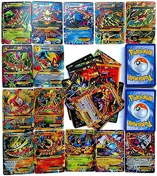 Dorara 100 Piezas Pokemon Tarjetas EX, Tarjetas Flash de Pokemon ...