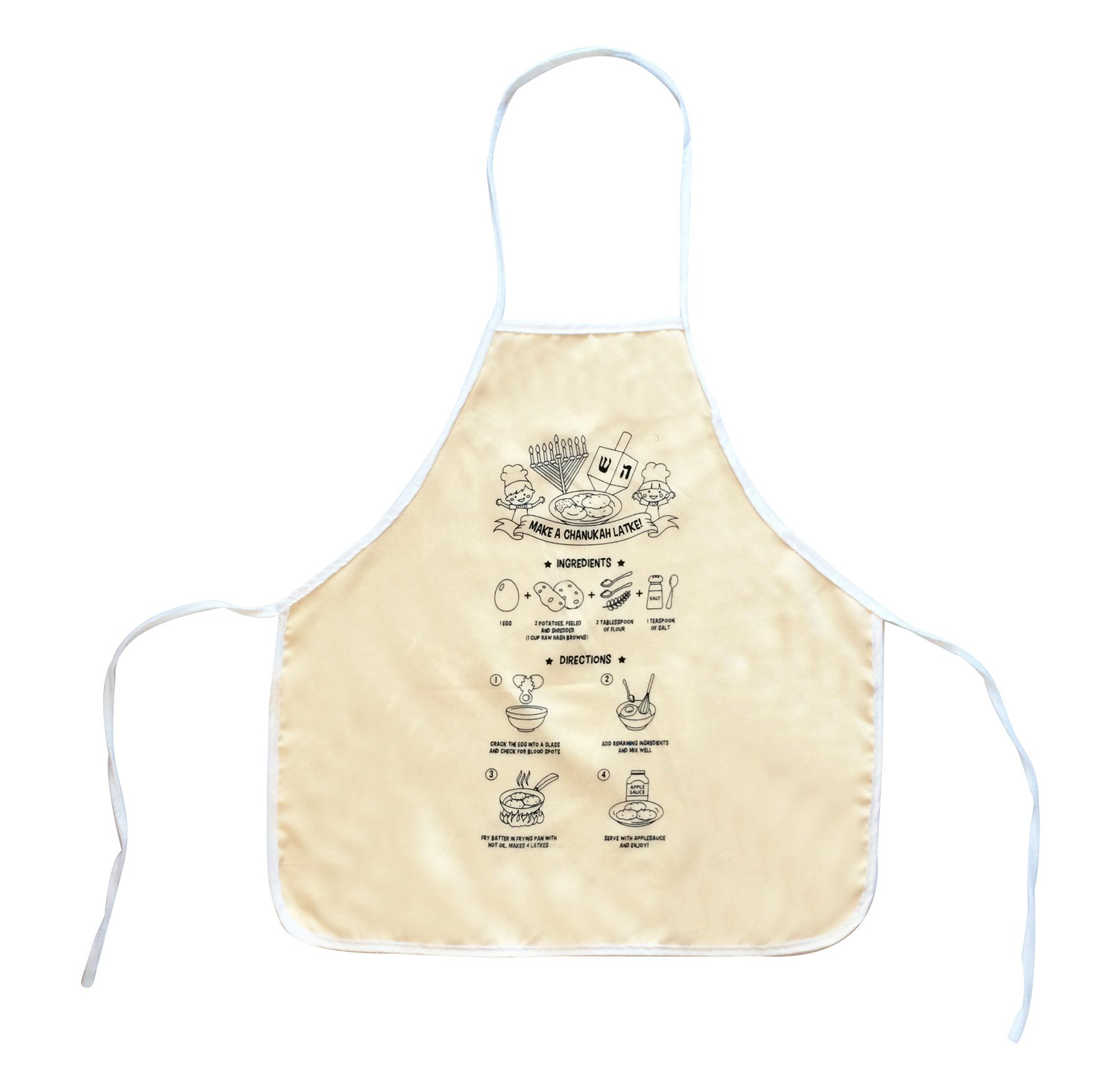 (Pack of 25) Color Your Own Latke Apron (Chanukah)