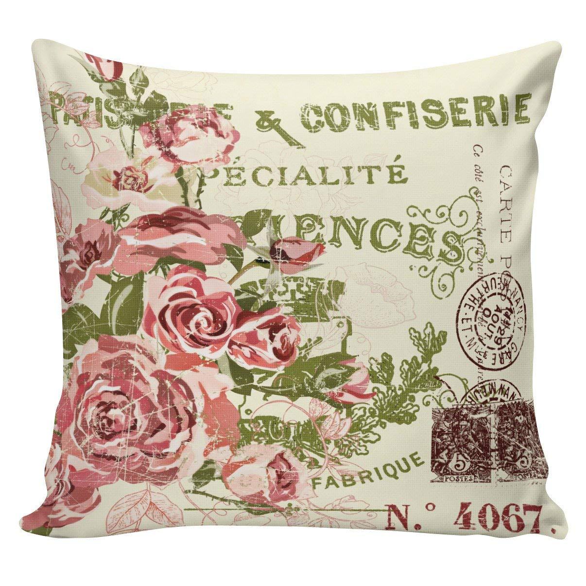 Amazon.com: Athena Bacon Funda de almohada francesa vintage ...