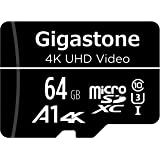 Gigastone 64GB Micro SD Card, 4K UHD Video, Surveillance Security Cam Action Camera Drone Professional, 90MB/s Micro…