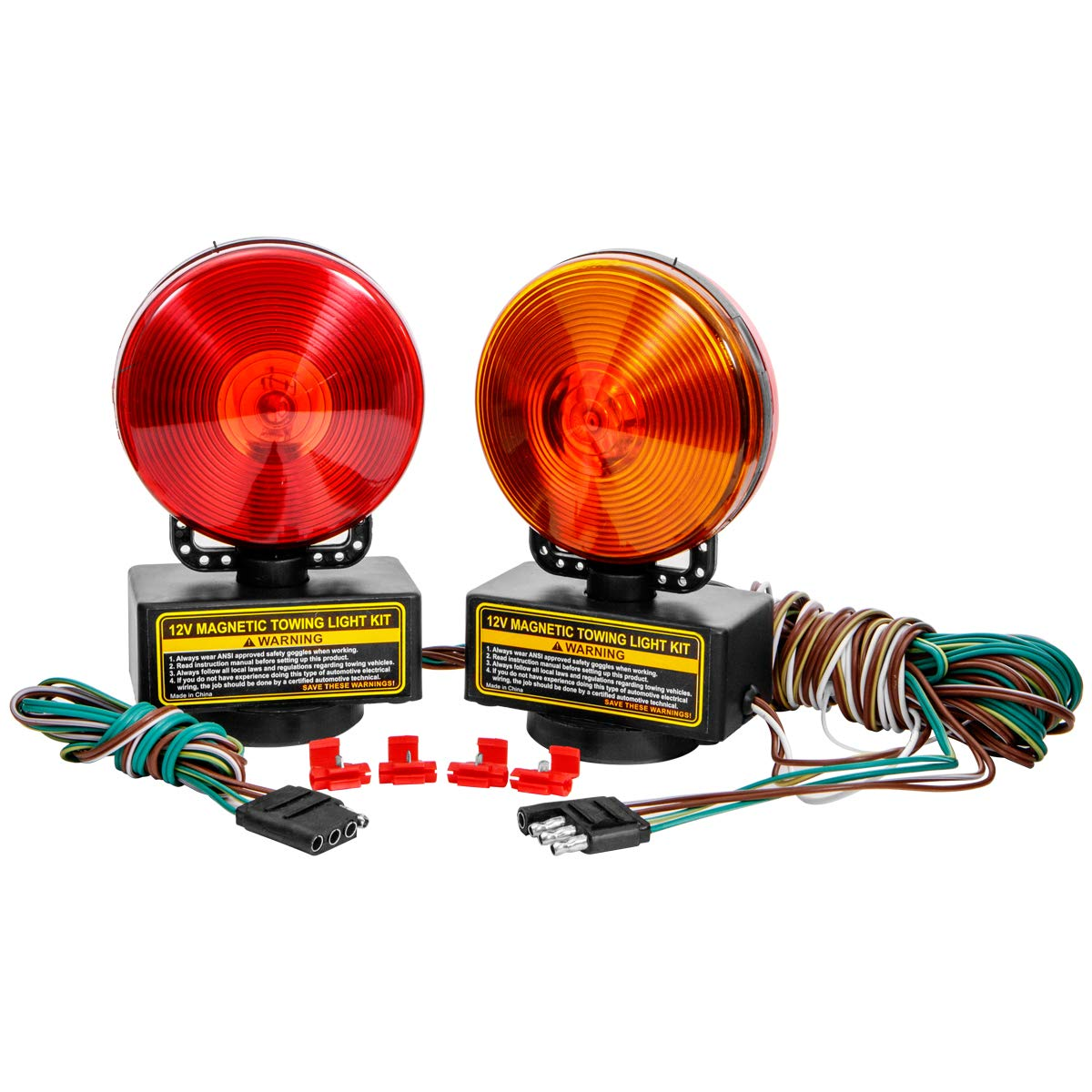 XtremepowerUS 12v Magnetic Towing Lights Kit for Trailer RV Truck Boat or Car by XtremepowerUS