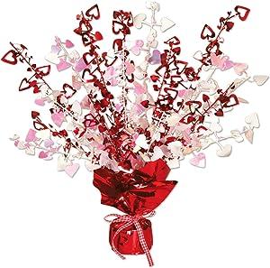 Beistle Heart Gleam 'N Burst Centerpiece, 15-Inch, 1 Per Package