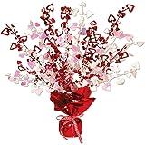 Beistle 70805 Heart Gleam 'N Burst Centerpiece, 15-Inch, 1 Per Package